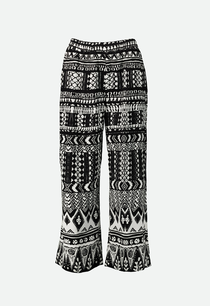 Gathered Printed Trouser - Fresqa