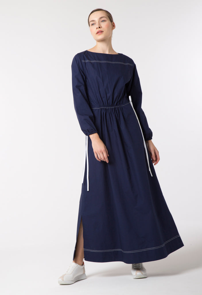Solid Navy Maxi Dress - Fresqa