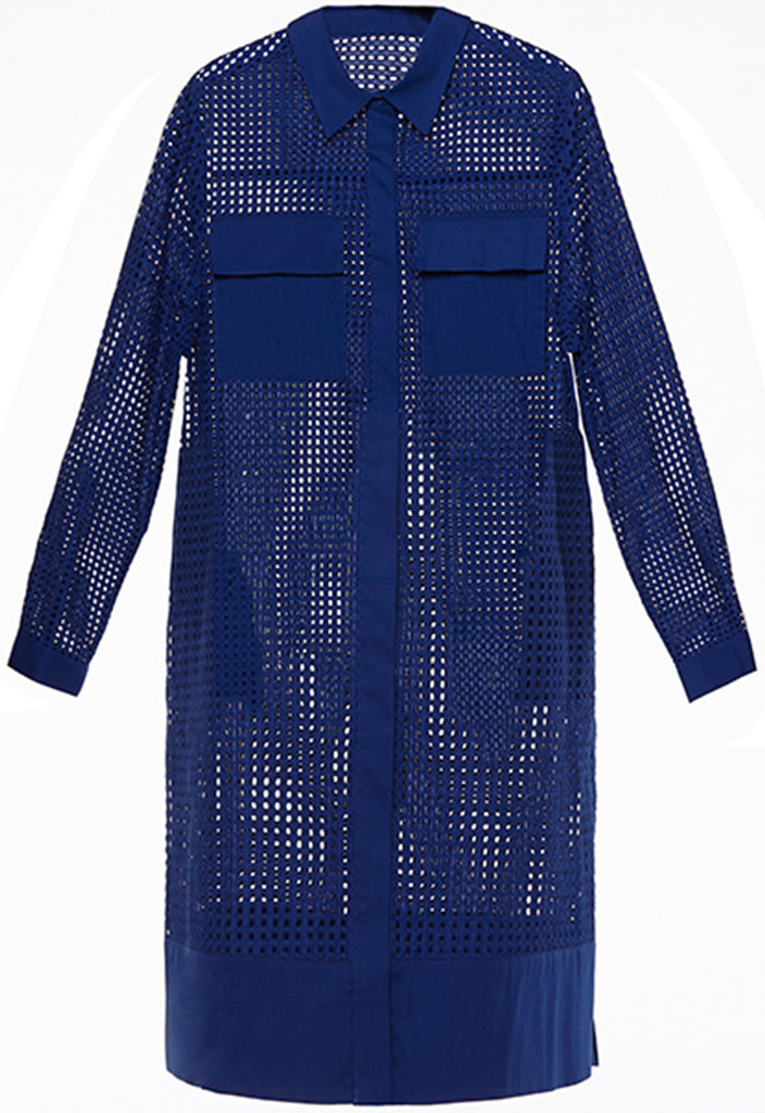 Perforated Eyelet Dress - Fresqa