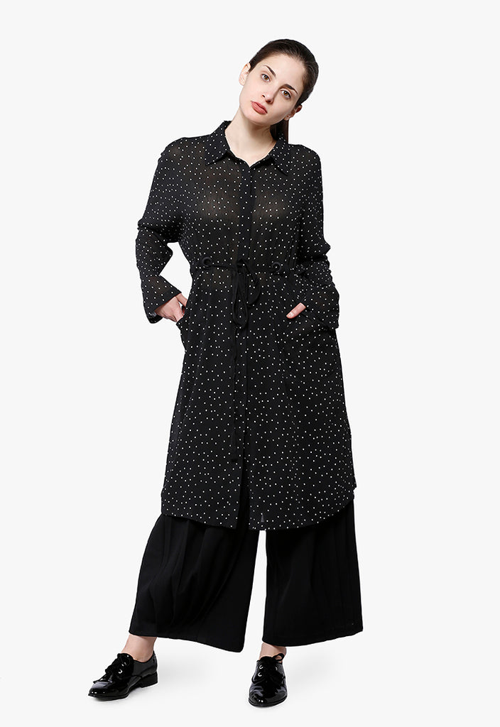 Polka-Dot Straight Fit Dress - Fresqa