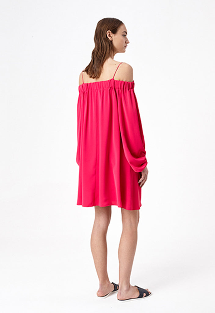Pink Off the Shoulder Dress - Fresqa