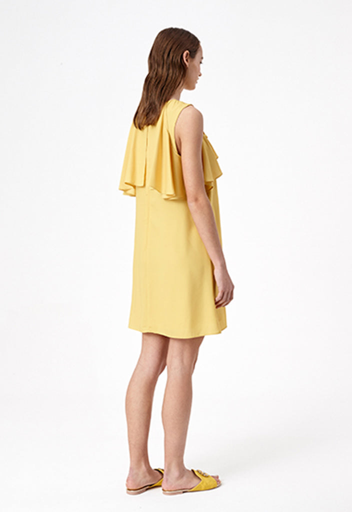 Ochre Ruffle Dress - Fresqa