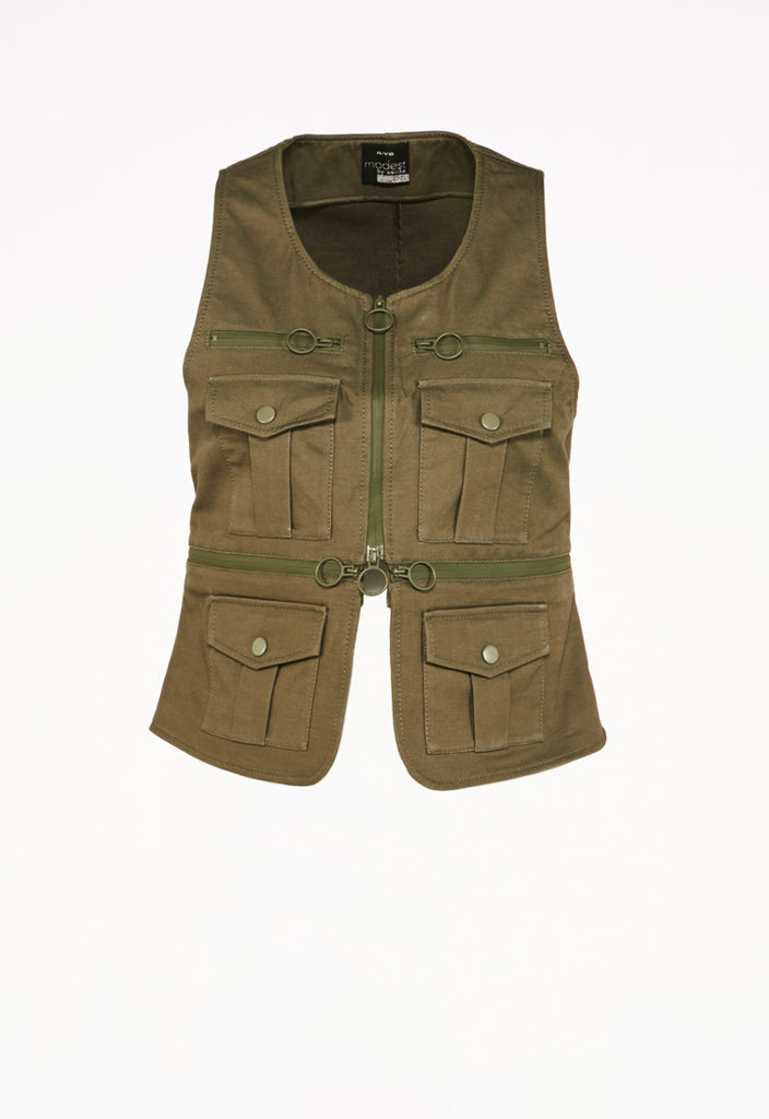 Sleeveless Vest with Pockets - Fresqa