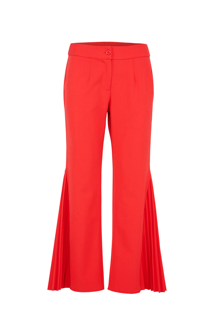 Side Pleat Pants - Fresqa