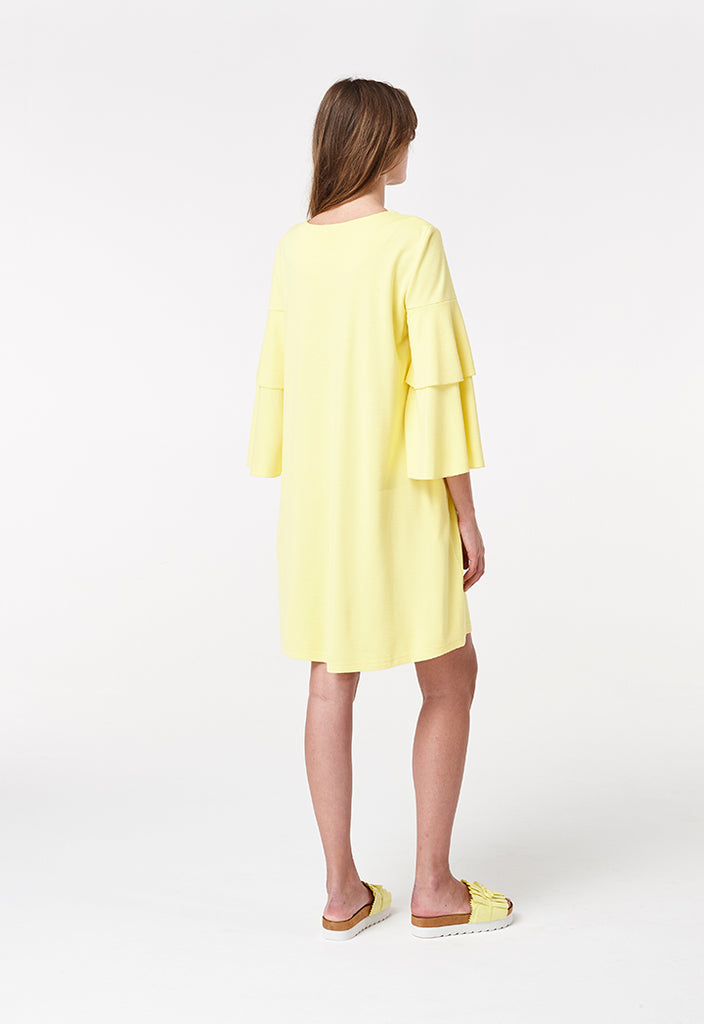 Short Frilled Sleeve Dress - Fresqa