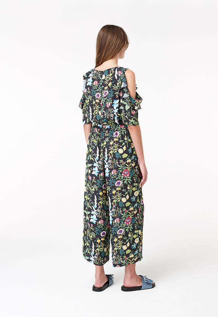 Tropical Cold Shoulder Jumpsuit - Fresqa