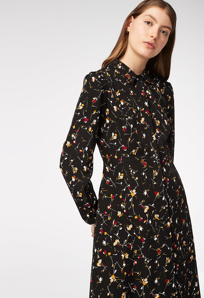 Printed Shirt Dress - Fresqa