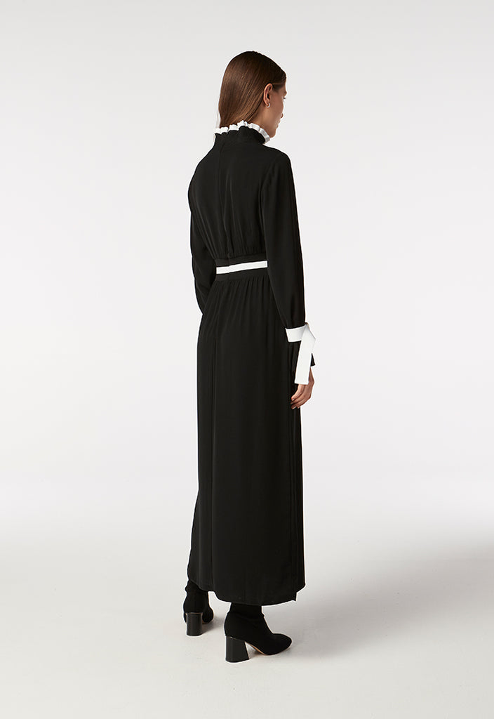 High Neck Maxi Dress - Fresqa