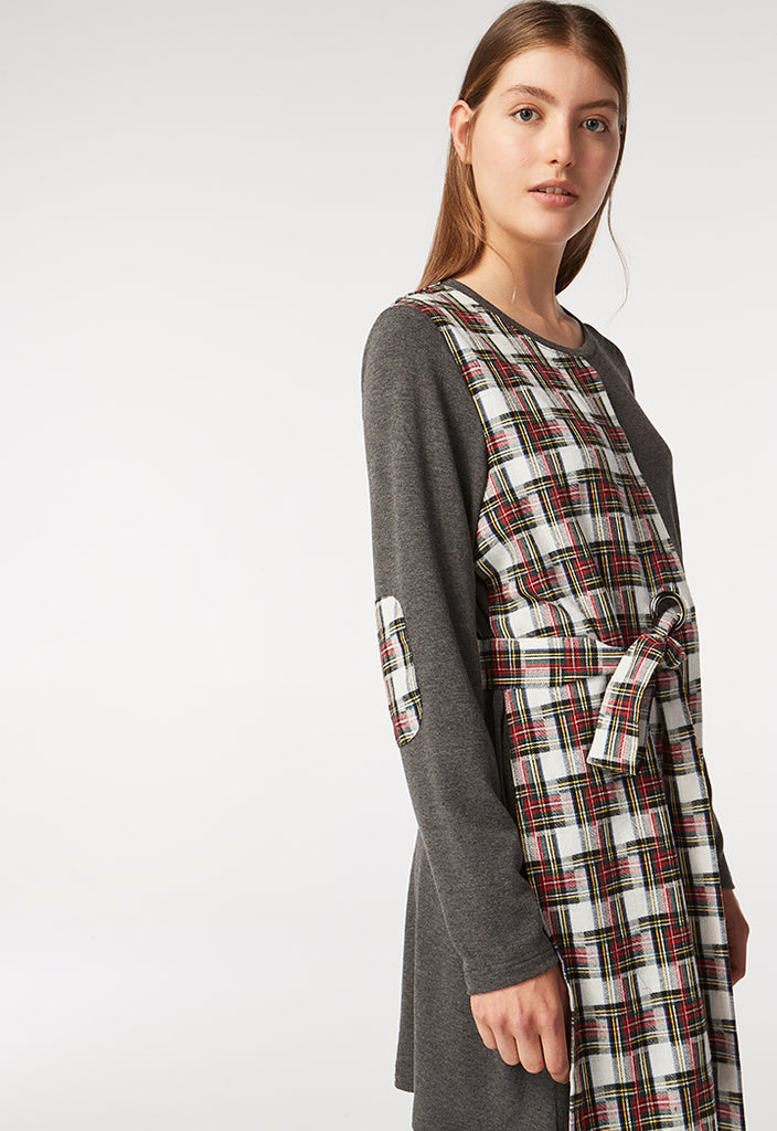 Checkered Jersey Dress - Fresqa