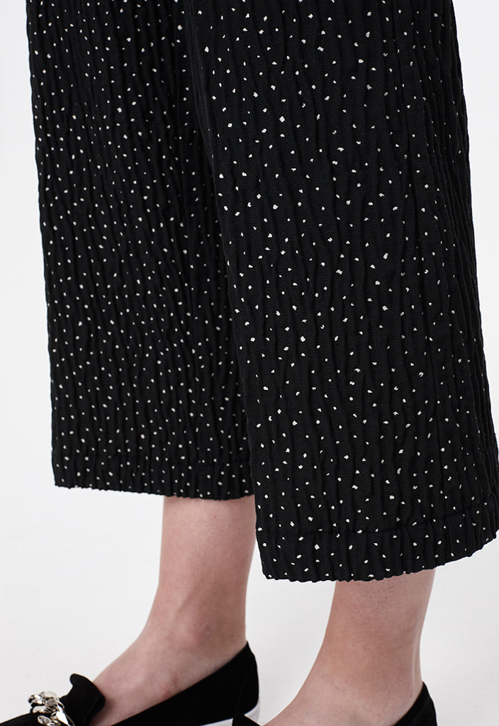 Textured Dotted Culottes - Fresqa