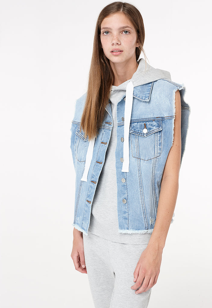 Denim Sleeveless Outerwear - Fresqa