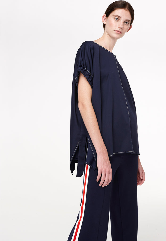 Gathered Sleeve Top - Fresqa