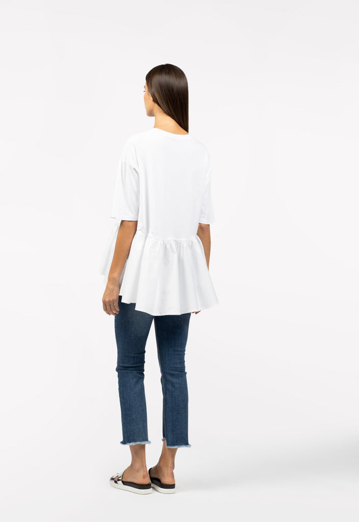 Solid Color Blocking Shirt - Fresqa