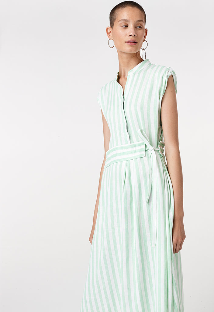 Stripe Self Tie Dress - Fresqa