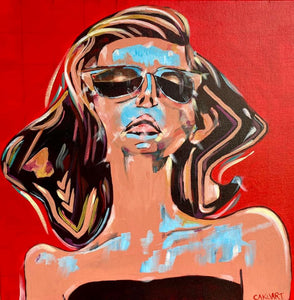 """Glamorous"" Original Canvas by Carl (CAKUart)"