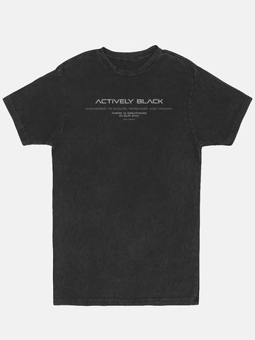 Unisex Actively Black Lifestyle Tee