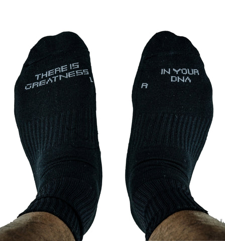 Actively Black Performance Crew Socks