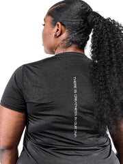 Women's Black Marble Performance Shirt