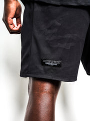 Men's Black Camo Performance Shorts