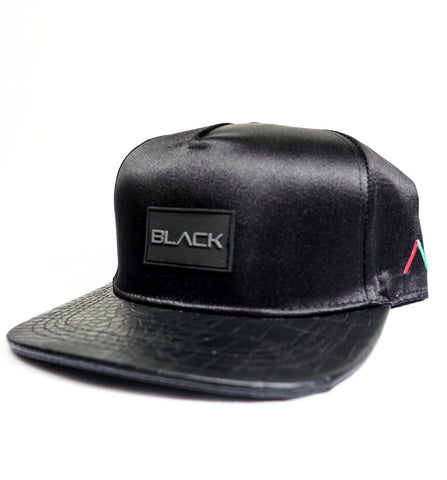 Actively Black Rubber Patch Premium Snapback