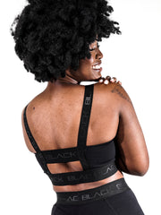 Women's Black Band Bra