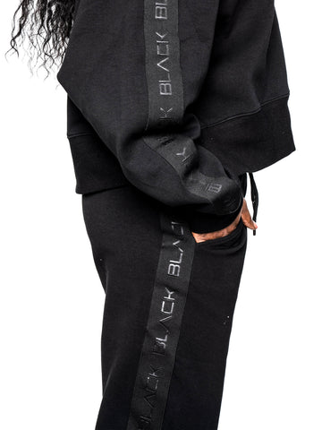 Women's Black Band Luxe Joggers
