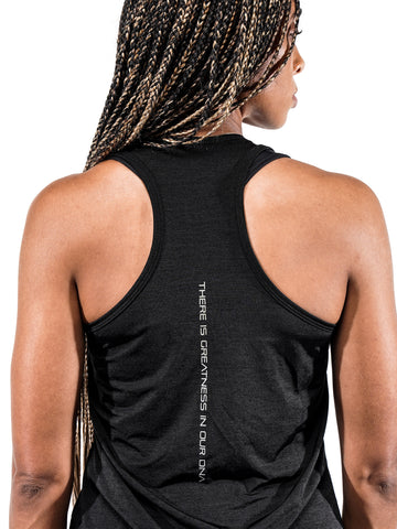 Women's Black Marble Performance Tank