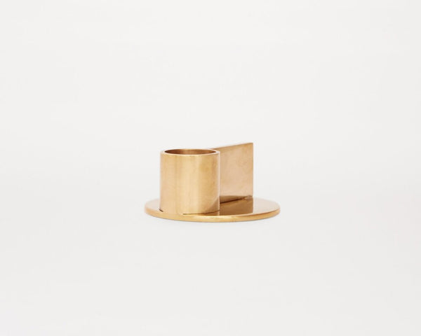Fundament Candle Holders | Brass