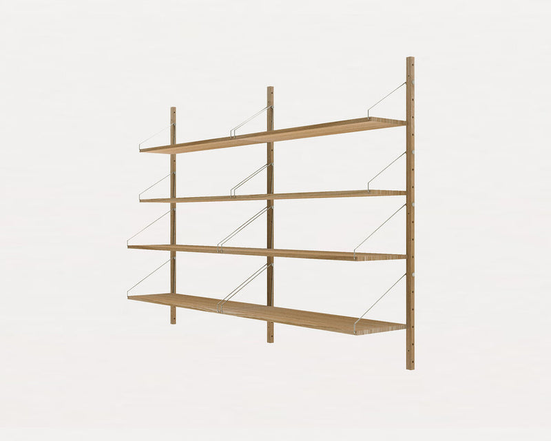 Shelf Library Natural H1148 | Double Section