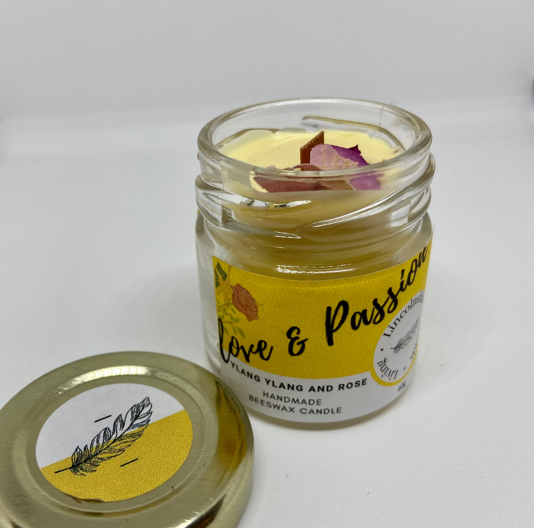 Love & Passion - Ylang Ylang and Rose Mini Candle