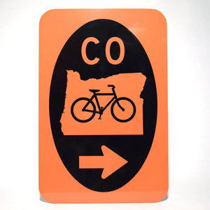 Cycle Oregon Road Sign