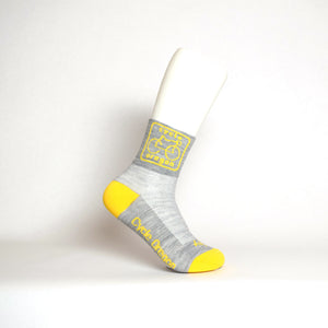Cycle Oregon Socks Wool Grey With Yellow