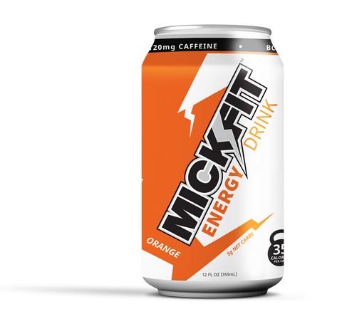 MICKFIT ENERGY-ORANGE LIGHTLY CARBONATED(12-PACK)