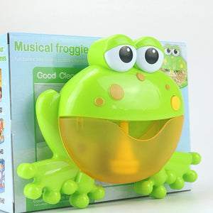 Frogs Bubble Bath Toy  Music Nursery Rhyme Bubble Blower Machine for Toddler  Let Baby Love Bathing
