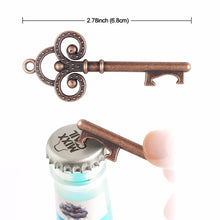 Load image into Gallery viewer, 50pcs Wedding Souvenirs Skeleton Bottle Opener + Tags