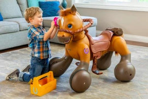 An Interactive Ride-On Pony Scooter