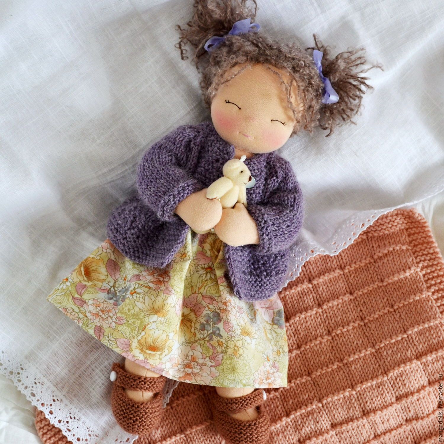 Liberty Dress For Waldorf Doll - Doll Clothing #5