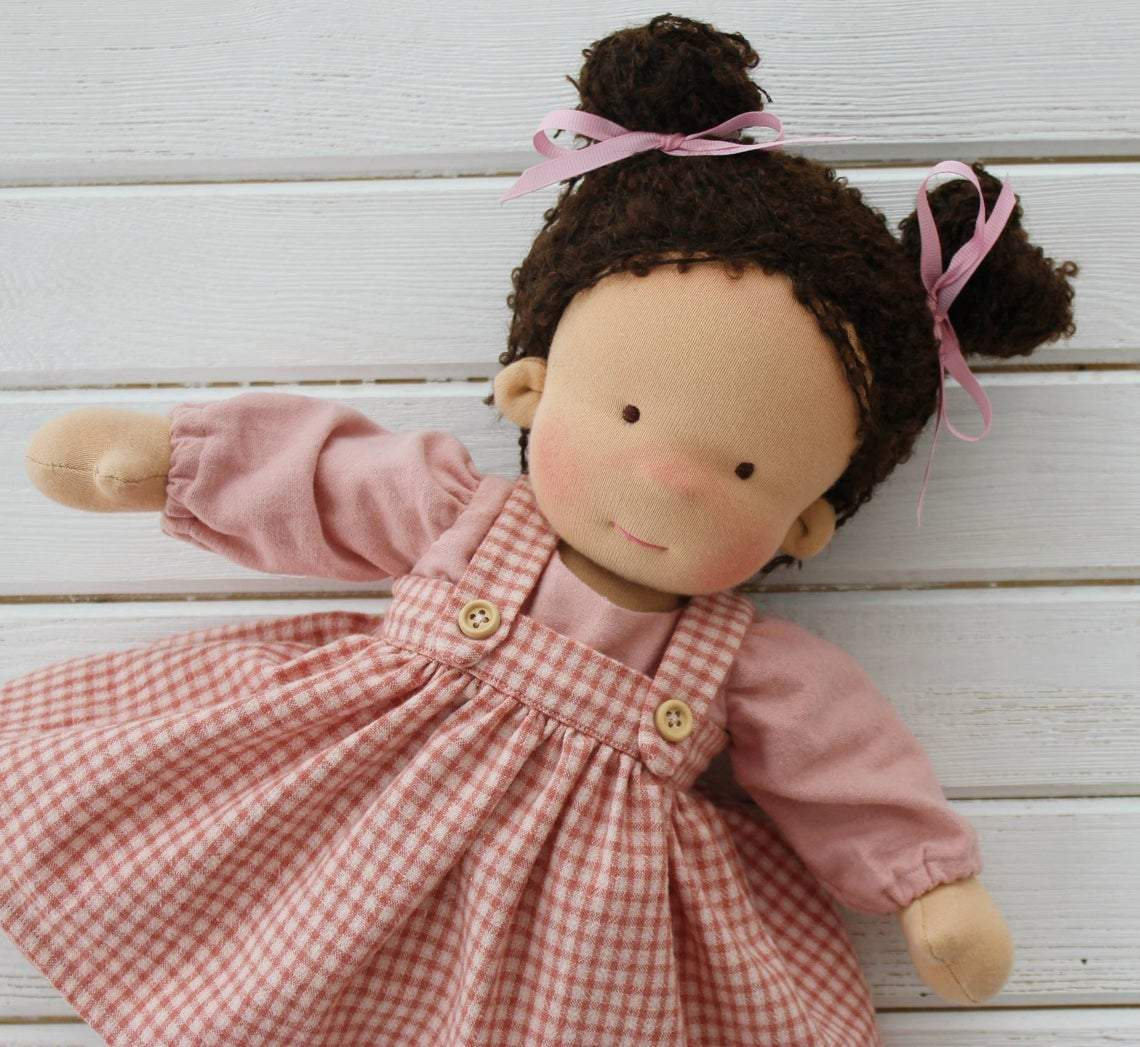 Liberty Dress For Waldorf Doll - Doll Clothing #19