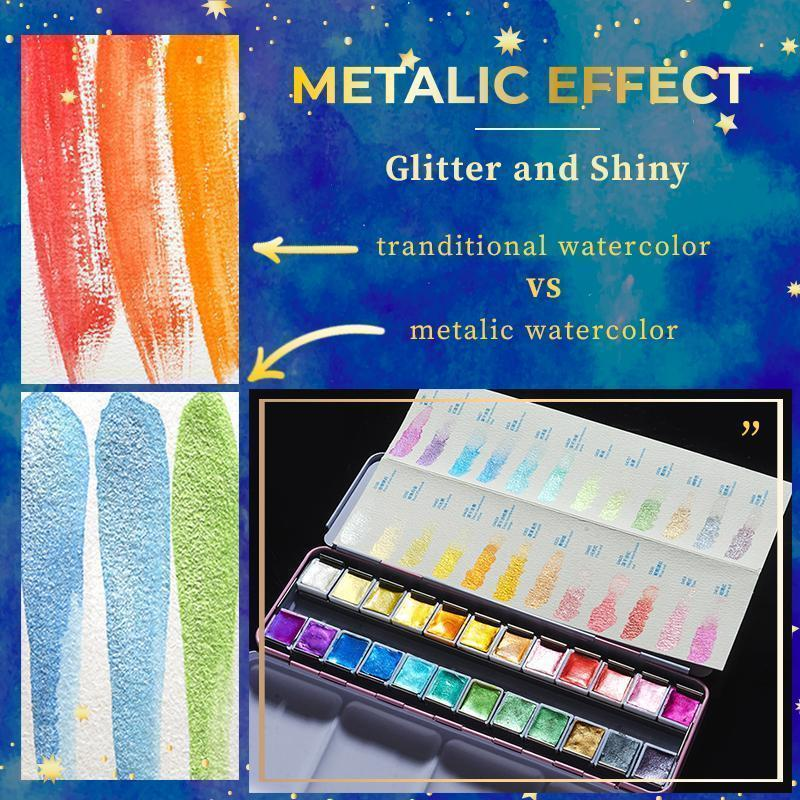 ✨ 50% OFF TODAY!✨ Metallic Watercolor Set