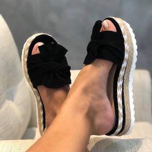 🔥2020 Summer Hot Sale 🔥Bow-Knot slippers with thick soles platform sandals