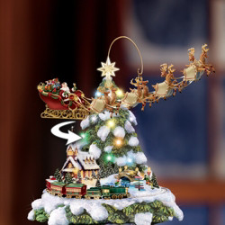 🎁Only $19.99 Buy 1 Get 1 Free🎁Desktop Christmas Tree Rotating Sculpture Train