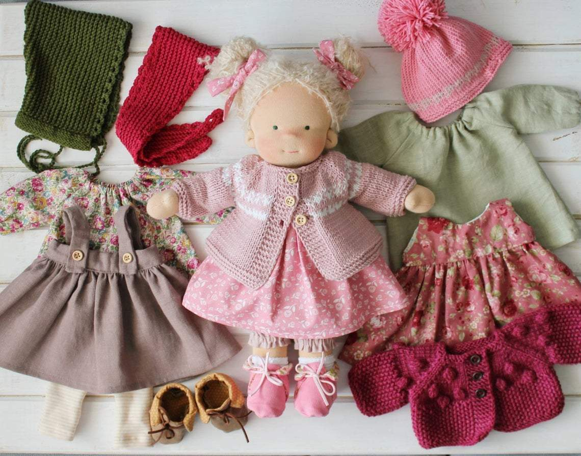 Liberty Dress For Waldorf Doll - Doll Clothing #18
