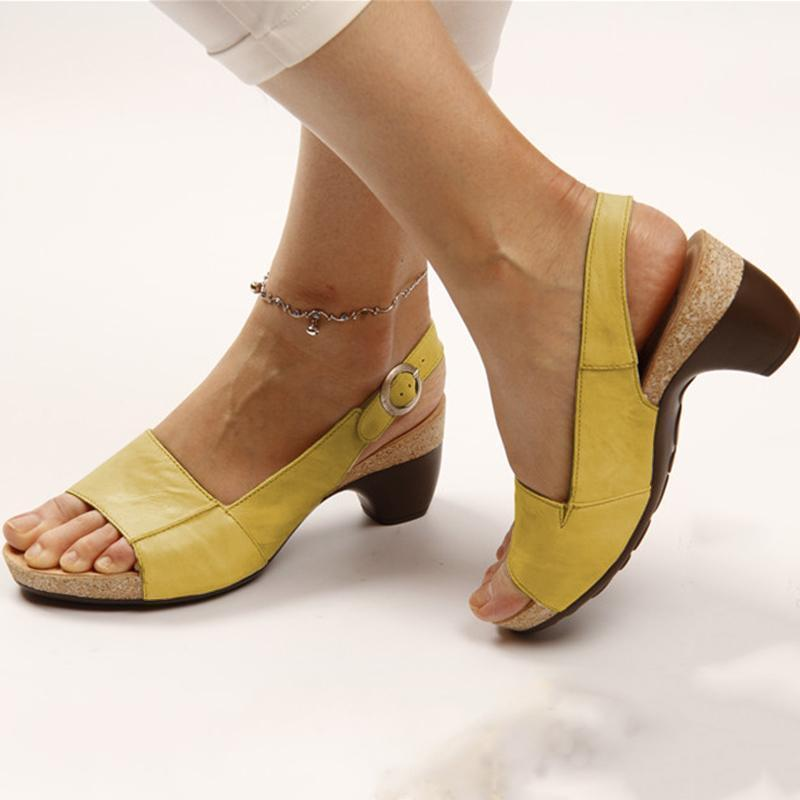 🔥 Last Day Promotion 🔥 Comfortable Elegant Low Chunky Heel Sandals