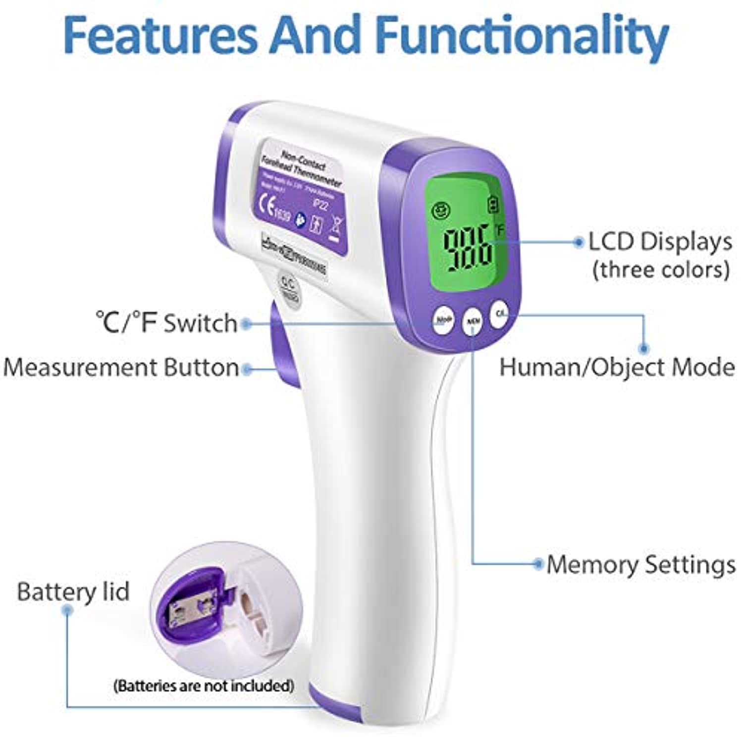 🔥$19.99 Only Last 2 Days🔥Non-Contact LCD Screen Digital Thermometer