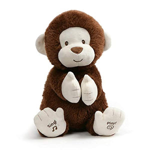 Animated Clappy Monkey Singing and Clapping Plush Stuffed Animal
