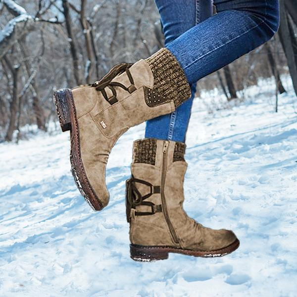 🔥50% OFF 🔥NEW Winter Warm Back Lace Up Boots