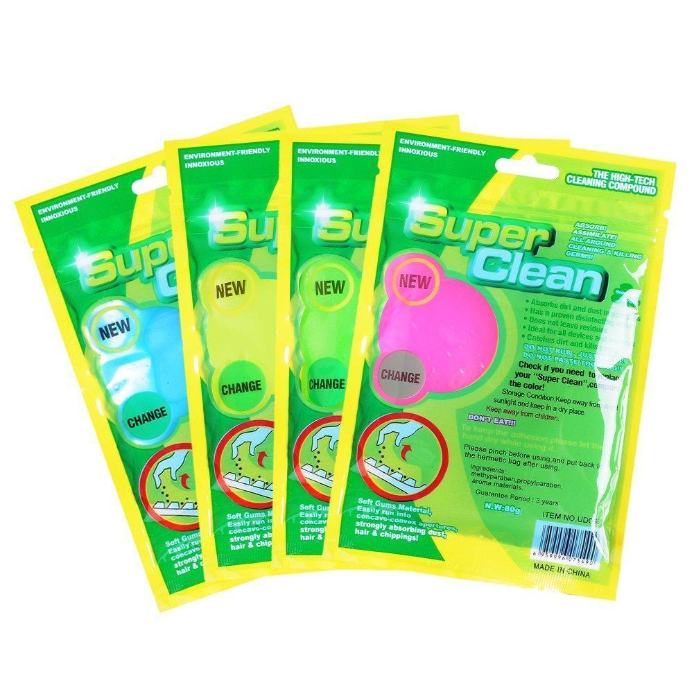 Soft Sticky Dust Cleaning Gel  (Pack of 4)