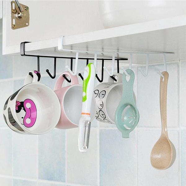 (60%OFF) Under-Cabinet Hanger Rack(6 Hooks)