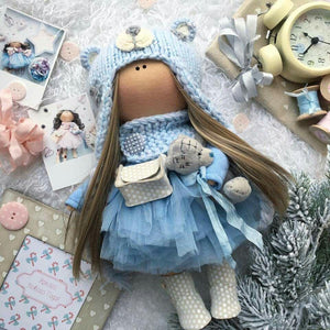 Liberty Dress For Waldorf Doll - Doll Clothing