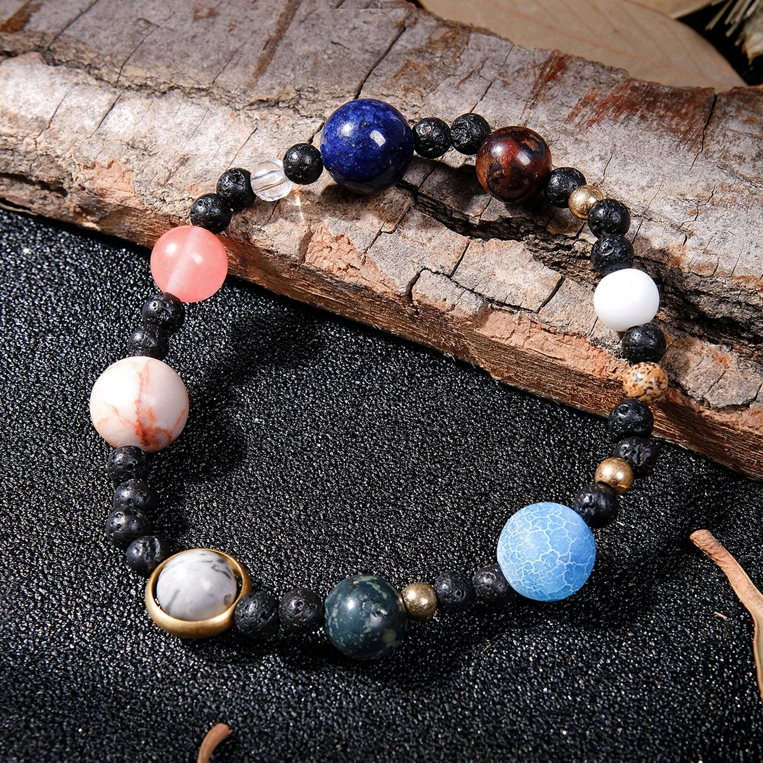 The 9 Planets Solar System Beaded Bracelet (with Free Anklet/Bracelet)
